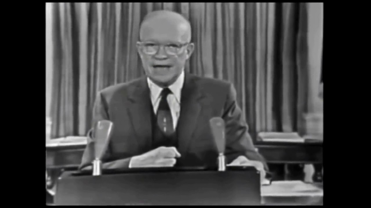 Eisenhower Warns of Military Industrial Complex in 1961 Farewell Address