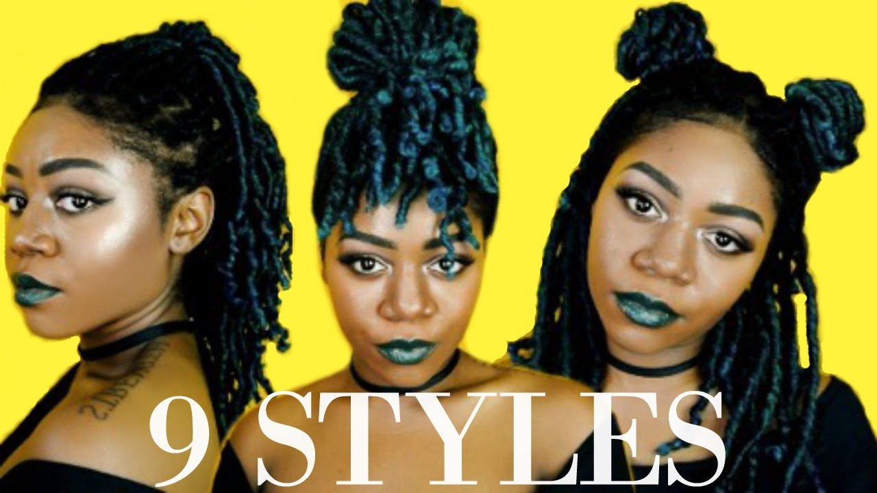 9 Ways To Style Medium Length Locs Braids Twists Protective Styles 2 Minute Hairstyles Youtube