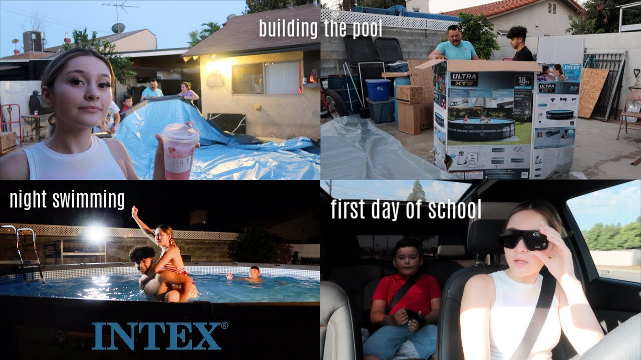 BUILDING OUR SUMMER POOL + FIRST DAY OF SCHOOL DROP OFF