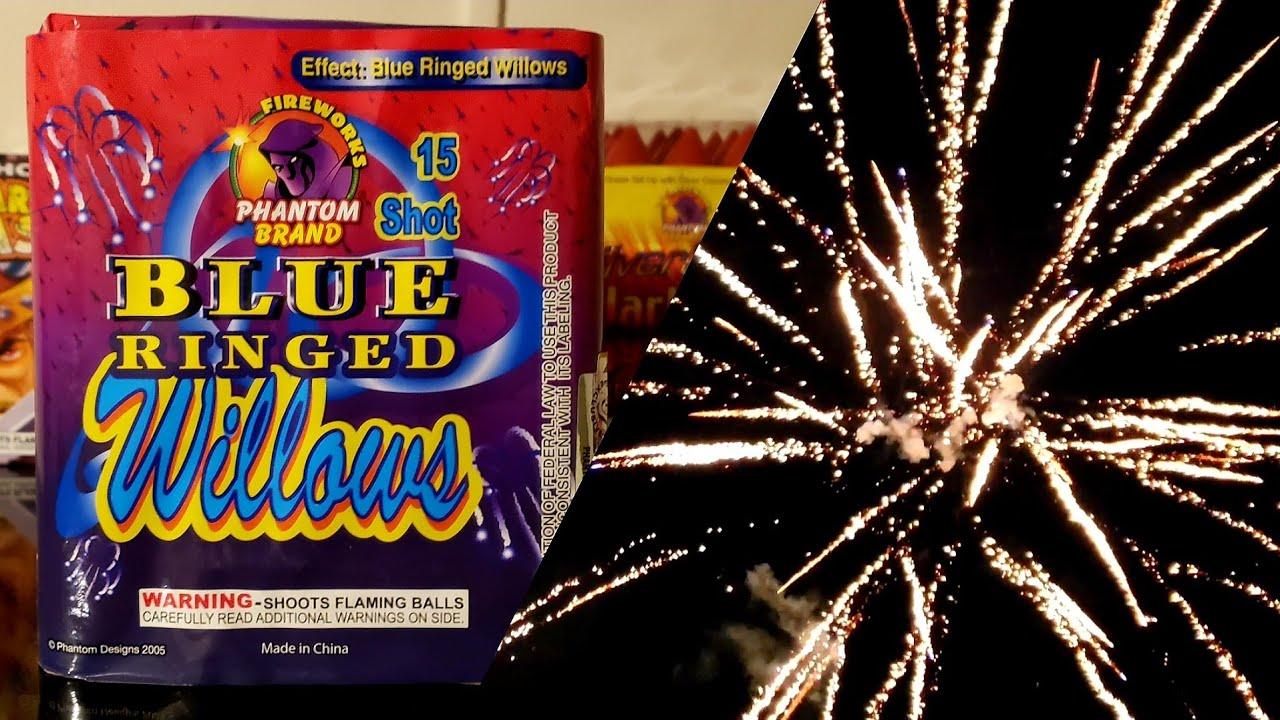 Phantom Fireworks Blue Ringed Willows 200g Repeater Cake