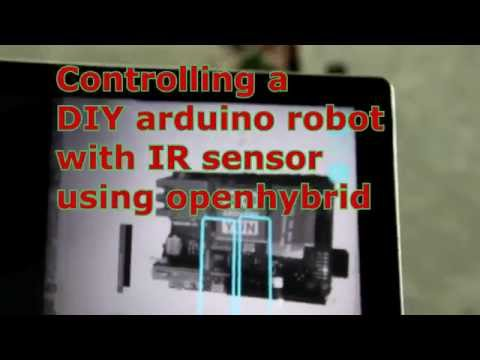 DIY arduino robot controlled with openhybrid