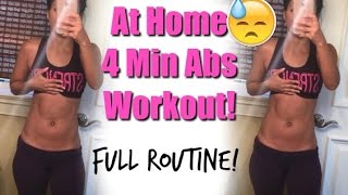 At Home 4 Min Abs Workout - EFFECTIVE Exercises & Full Abs-Routine
