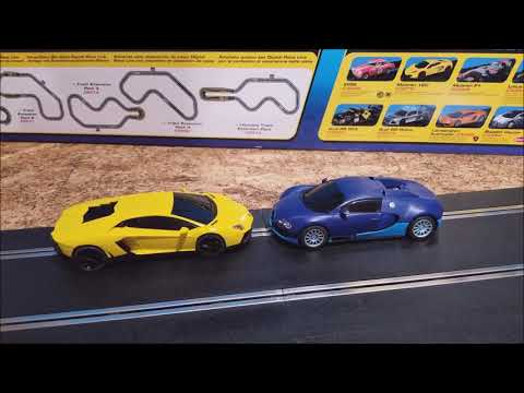 Scalextric digital 1/32 digital set C1327 Lamborghini vs Bugatti