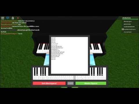 Roblox - Song Of Unhealing Piano Tutorial + Notes