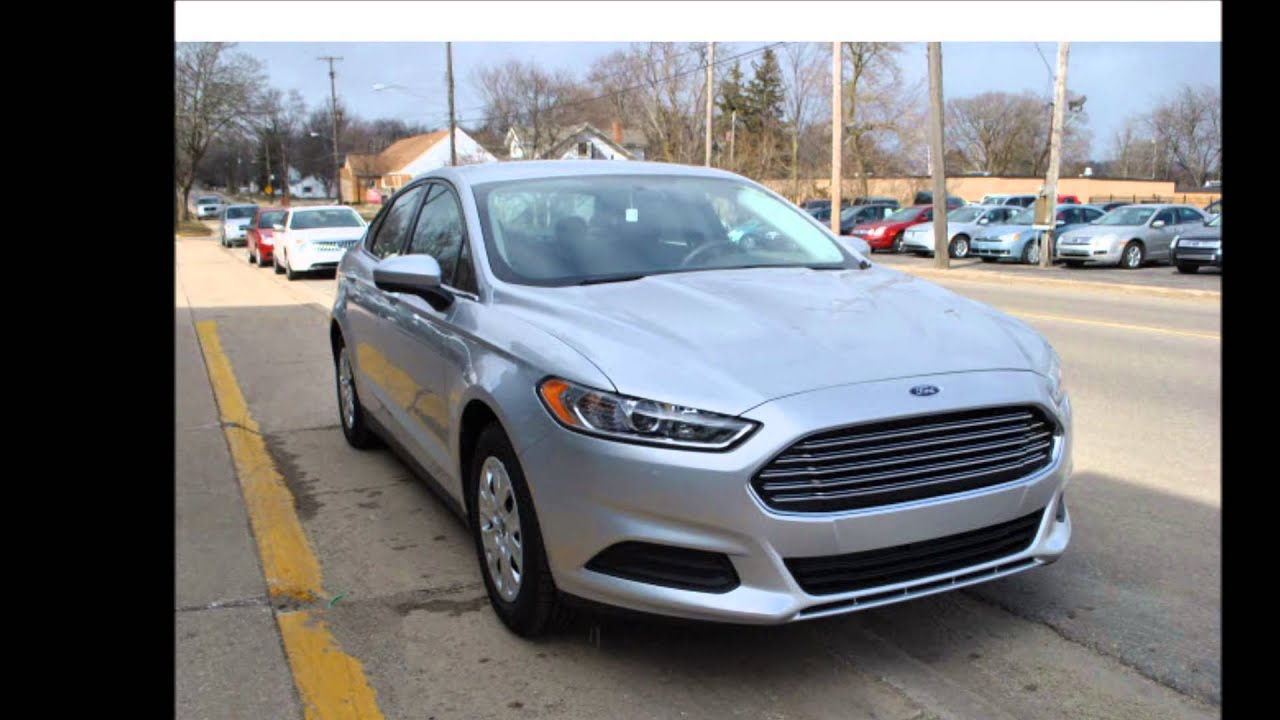 2013 Ford Fusion S Ingot Silver Metallic Youtube
