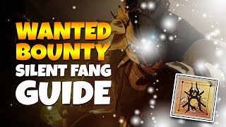 Destiny 2 WANTED BOUNTY: SILENT FANG - Spider's Weekly Bounty Guide!