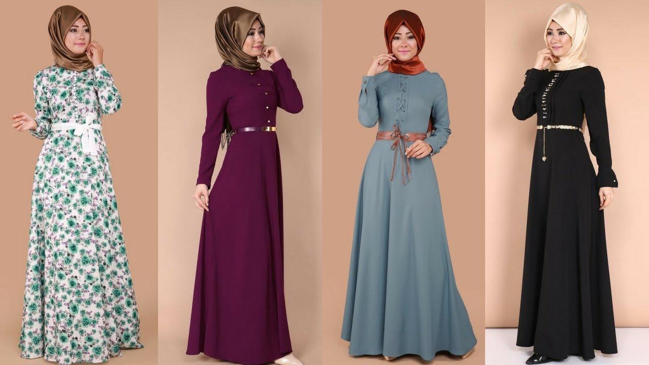 266005c5fc29c Modaselvim 2017 Kemerli Tesettür Elbise Modelleri 3/4 - YouTube