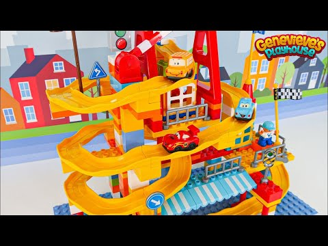 Best Toy Learning Video for Kids Building Block Lego Car Track!