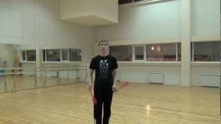 Видео уроки поинга: Обратная трехбитная восьмерка - 3 Beat Weave Tutorial (Reverse)