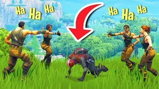 AMBUSHING PEOPLE AS DEFAULT SKINS! | Fortnite Battle Royale