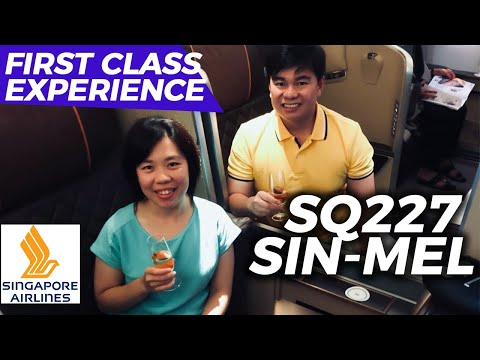 Singapore Airlines First Class Flight Experience | Singapore to Melbourne (SQ227) | Boeing 777-300ER