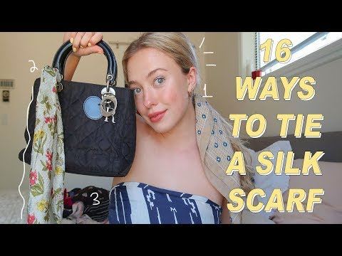 16 EASY WAYS TO STYLE A SILK SCARF :)