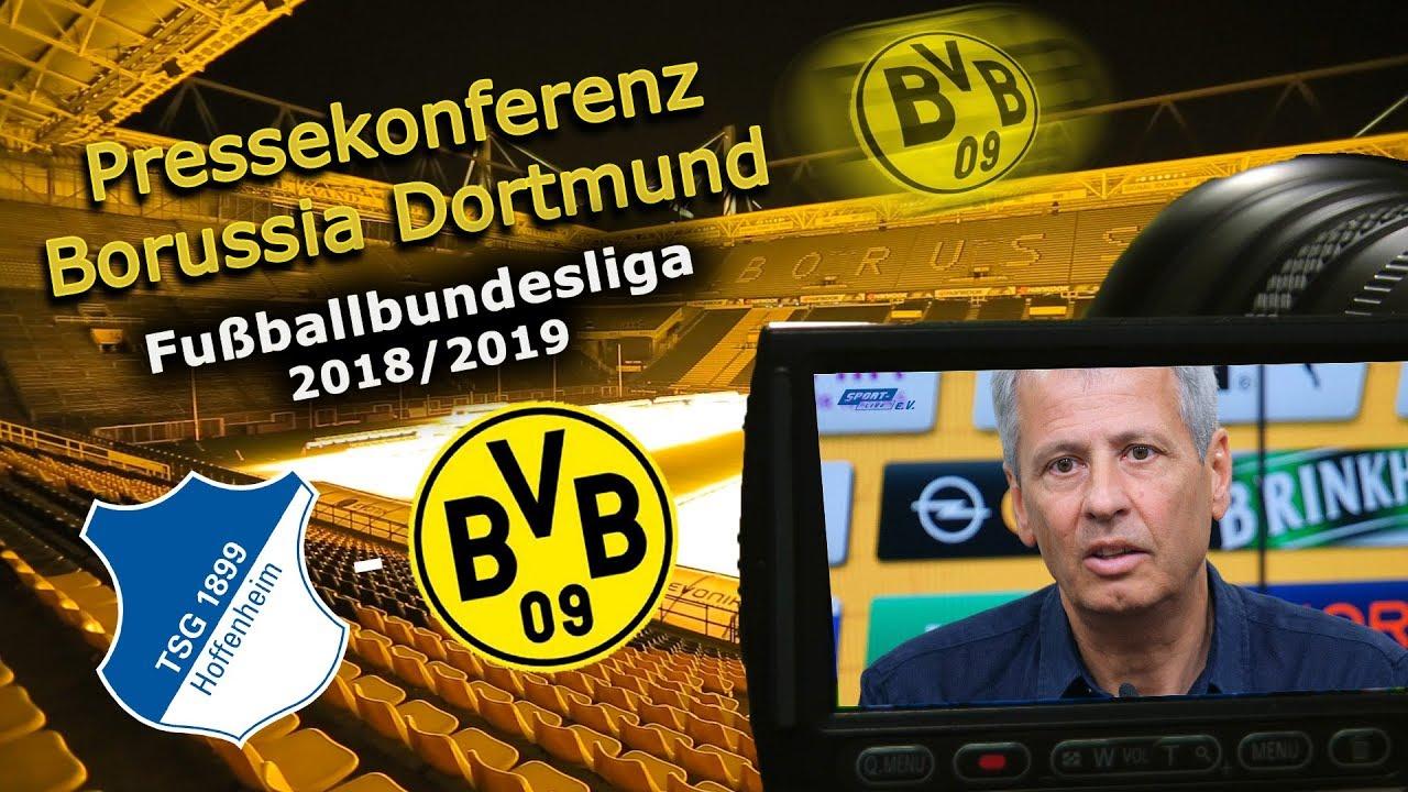 TSG 1899 Hoffenheim - Borussia Dortmund: Pk mit Lucien Favre und Michael Zorc