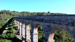 Pont del Diable de Tarragona a vista de Drone