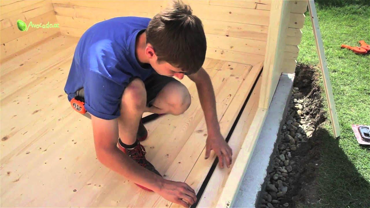 Gartenhütte Bauen In 6 Schritten: Teil 4 - Boden Und Dach - Youtube Schritte Gartenhaus Selber Bauen
