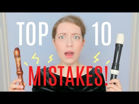 TOP 10 RECORDER MISTAKES! | Team Recorder