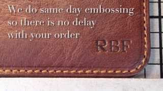 Tony Perotti Italy - Embossing Italian Leather products made from real Italian Leather