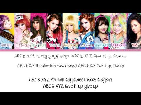 [Color Coded/Han/Eng/Rom] Girls Generation/SNSD - XYZ