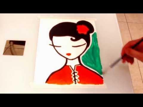Dibuja Una Mujer Oriental China Japonesa Draw A Oriental Woman