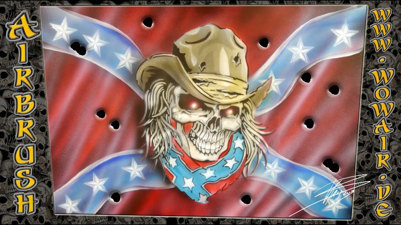 Rebel Skull Confederate Flag