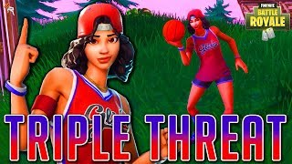 "¡Convirtiéndose en una ""Triple Amenaza"" en Fortnite! 🏀 Fortnite Battle Royal New Skin Gameplay"