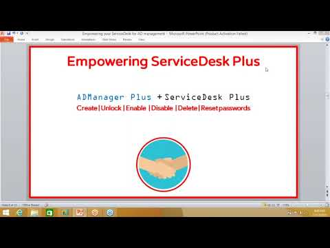 Empowering serviceDesk Plus for Active Directory Management
