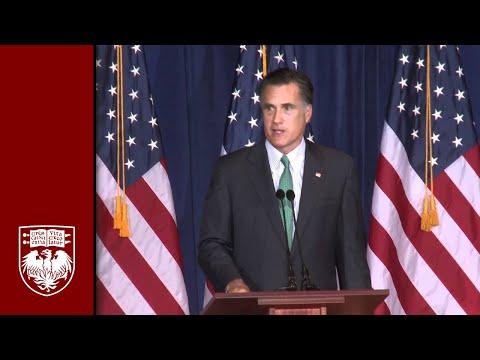 Mitt Romney at University of Chicago: Economic Policy Forum