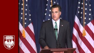 Mitt Romney at University of Chicago: Economic Policy Forum