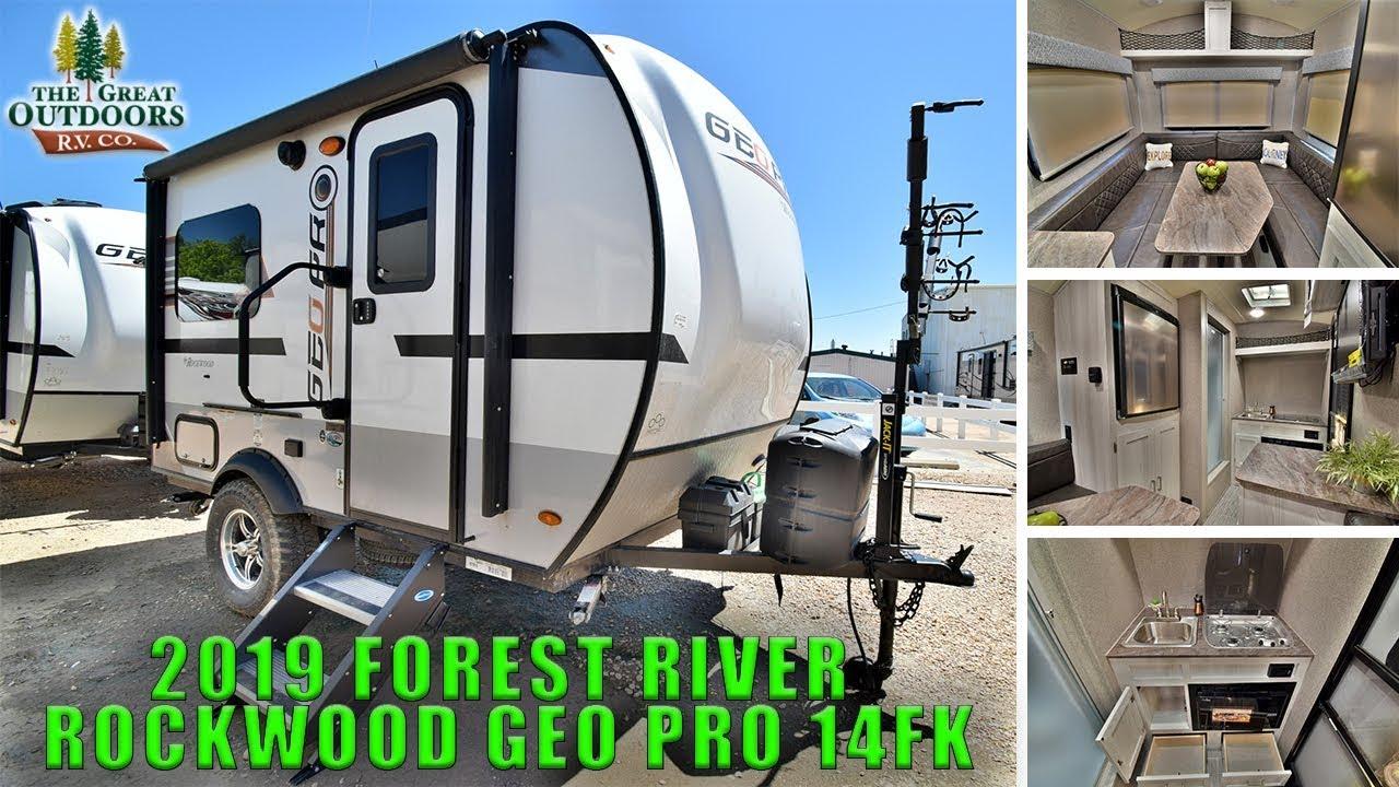 New 2019 ROCKWOOD GEO PRO 14FK Lightweight Travel Trailer ...