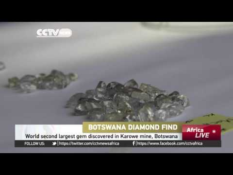 World second largest gem discovered in Karowe mine, Botswana