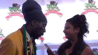 """Sizzla at Rebel Salute """"In Jamaica? Ganja free down yah mon!"""""""