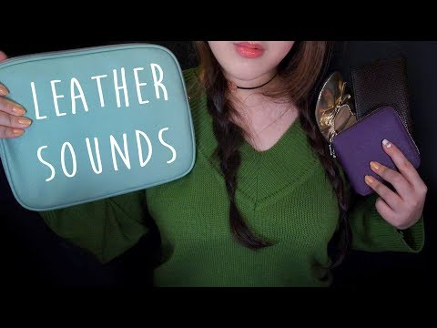 ASMR Sticky Leather Sounds Collection for Relaxing 👝💼(No Talking) 🧤가죽소리
