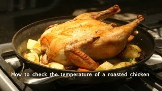 How to check the temperature of a roasted chicken