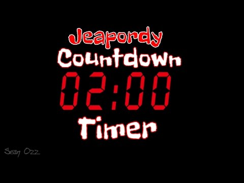Jeopardy Music  Two Minute Timer Countdown