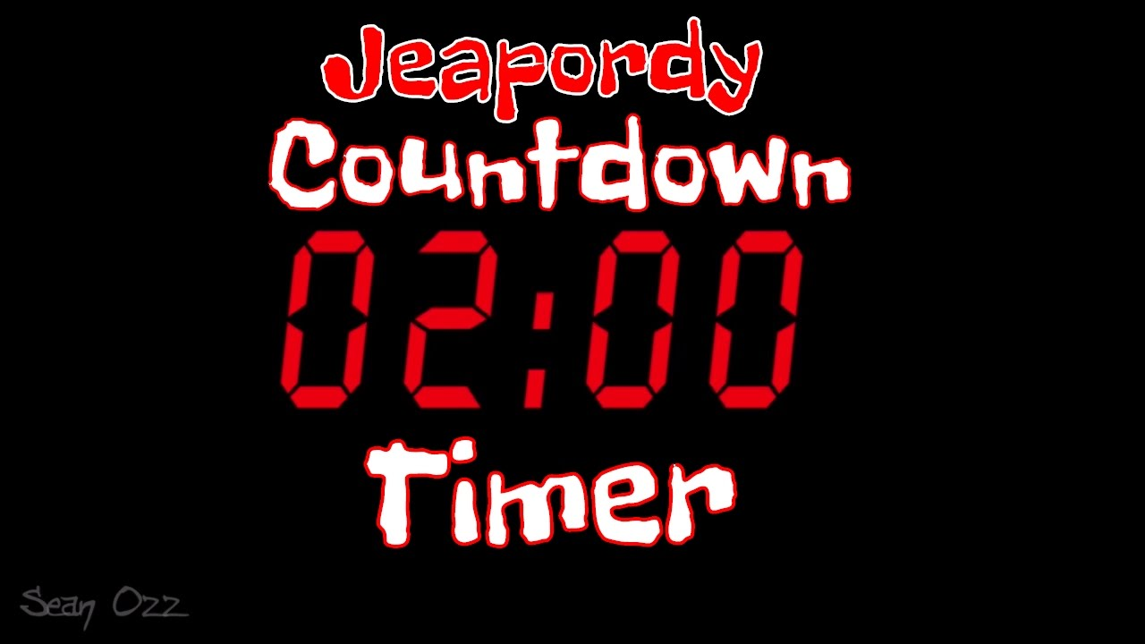 jeopardy music two minute timer countdown youtube