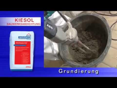 Remmers Kellerinstandsetzung im Kiesol System