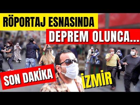 İzmir'de DEPREM tam Röportajın Ortasında Oldu...30 Ekim 2020