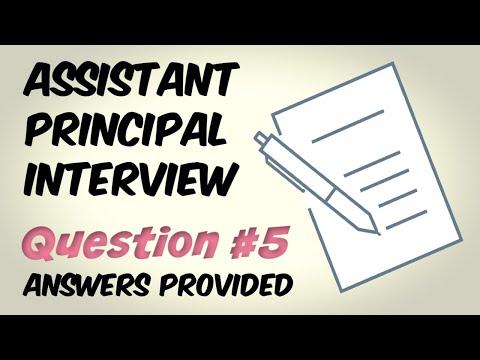 Assistant Principal Interview Question 5
