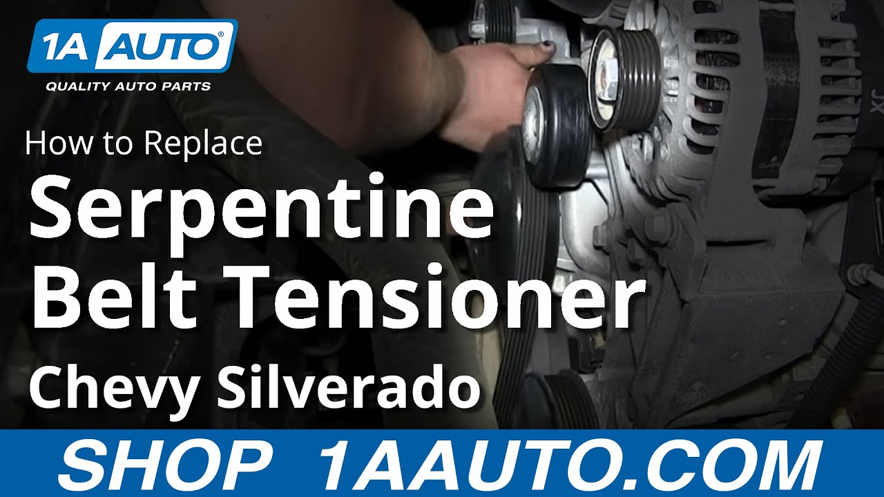how to install replace serpentine belt tensioner 2007 13 chevy silverado gmc sierra [ 1280 x 720 Pixel ]