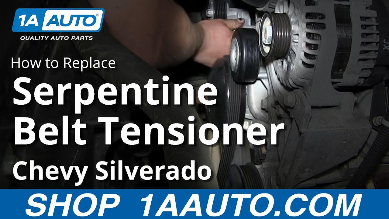 medium resolution of how to install replace serpentine belt tensioner 2007 13 chevy silverado gmc sierra