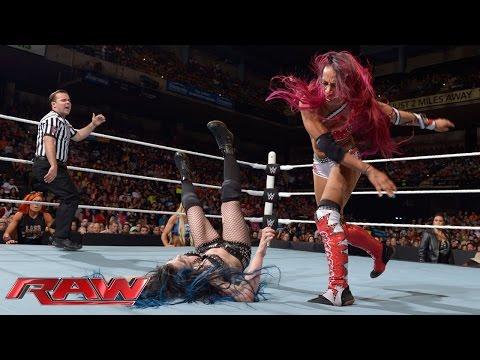 Paige vs. Sasha Banks: Raw, September 7, 2015