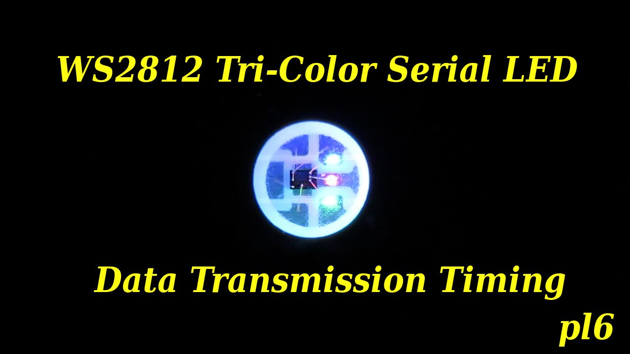 pl6 WS2812 (NEOPIXEL) LED Data Timing