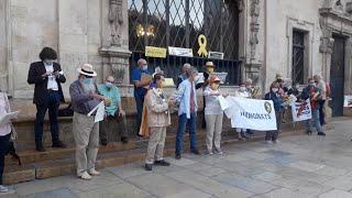 Concentración en Palma en apoyo a Quim Torra