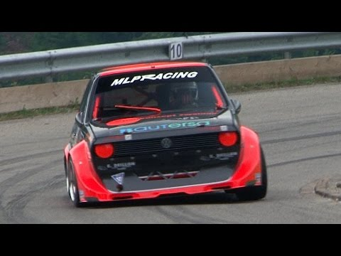 Very fast and loud VW Polo 1.6 16V with full onboard. Stephan Burri at Swiss Hillclimb 2015