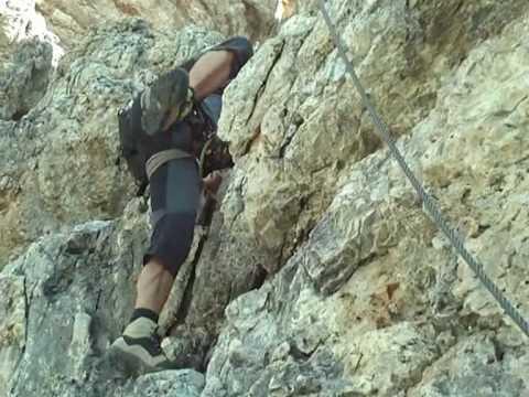 Klettersteig Piz Boe : Klettersteig cesare piazzetta am piz boe youtube