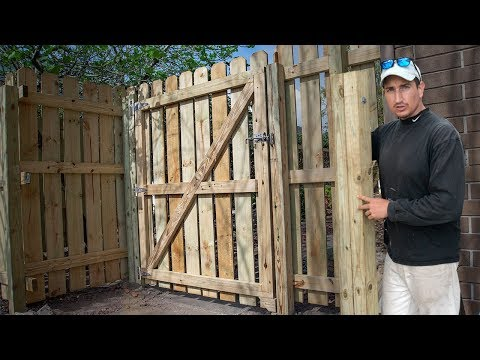 Tips To Build a Wood Fence Gate