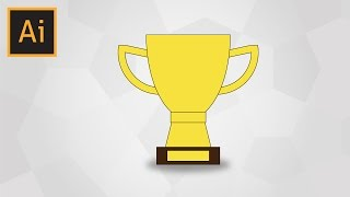 How To Draw A Simple Trophy In Adobe Illustrator (With Voice Explaining)