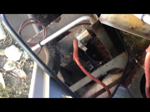 Lighting the pilot light on the pool heater vid 1