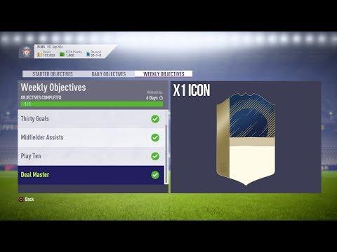 FIFA 18 Weekly Objective Rewards