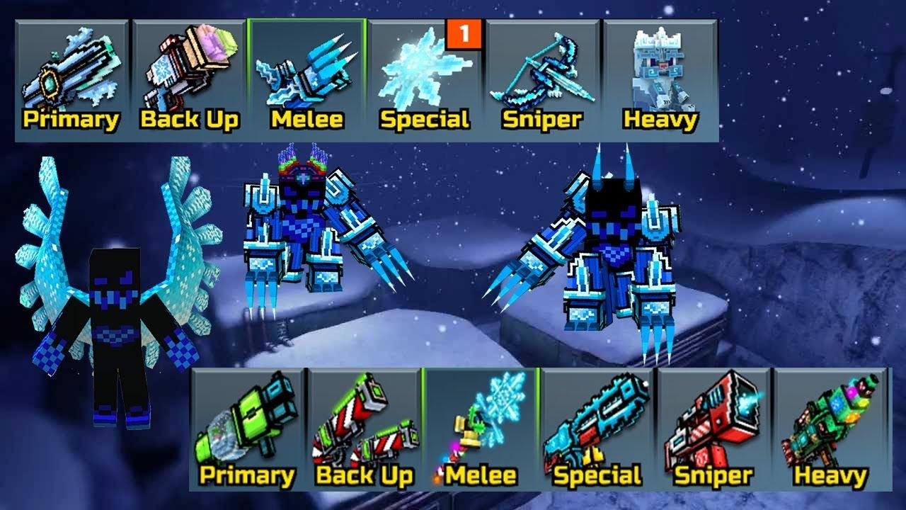 Pixel Gun 3d Ice Weapons Vs Christmas Weapons